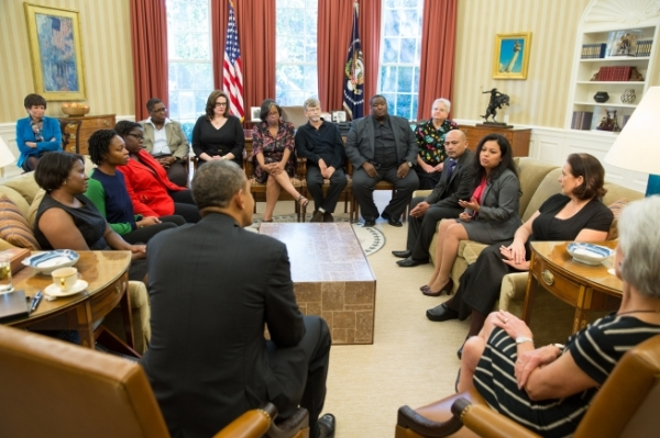 Lenace Edwards at the White House