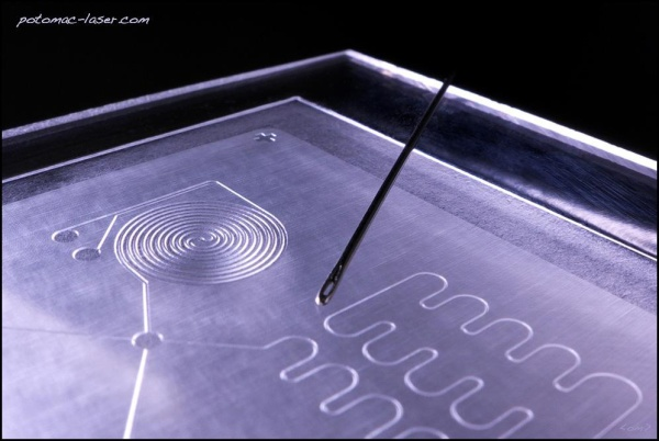 Pictured: custom microfluidic device fabrication by Baltimore-based Potomac Photonics. The company has developed an innovative manufacturing process for rapidly prototyping novel microfluidic devices for the biotechnology and medical device industries. The demand for these devices was so strong that it prompted the company to apply for a MIPS grant to help it increase its manufacturing capacity.